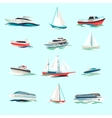 Boats icons set vector image