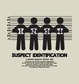 Suspect Identification Graphic Symbol vector image