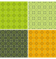 4 retro seamless pattern vector image