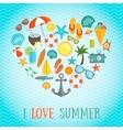 Summer Heart Poster vector image