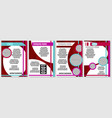 a selection of red brochures for advertising vector image