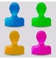 Default avatar profile vector image