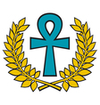 Egyptian Cross vector image