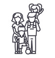 familyon father s shoulders mother holding son vector image