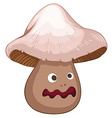 Fresh mushroom with face vector image
