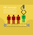 hr infographics element background vector image