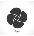 icon of fan vector image