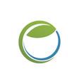 letter e green leaf eco logo vector image