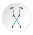 other crutches icon circle vector image