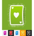playing card paper sticker with hand drawn vector image