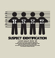 Suspect Identification Graphic Symbol vector image