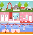 Wedding ceremony design banners Party vector image