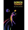 Badminton sport invitation poster or flyer vector image