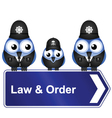 LAW ORDER SIGN vector image
