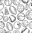 Sports pattern vector image vector image