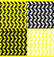 seamless pattern with four colored triangle vector image