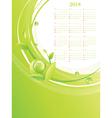 Green Eco Calendar 2014 vector image vector image