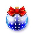 blue big ball vector image vector image