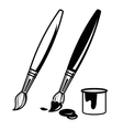 paint brush icons vector image