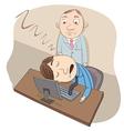 sleeping at work vector image
