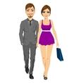 happy blonde woman with her boyfriend vector image