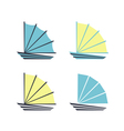 Boat logo icons vector image vector image