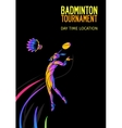 Badminton sport invitation poster or flyer vector image