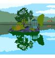 beautiful island in a lake vector image