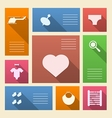 Colored icons for baby shop with place for text vector image