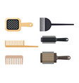 fashion hairdresser comb with hair clipper and vector image