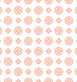 Seamless pattern ornament Cross and medicine vector image