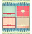 set of four retro Holiday backgrounds vector image