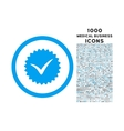 Quality Rounded Icon with 1000 Bonus Icons vector image