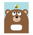 Notebook cover Composition book template Bear vector image