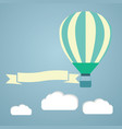 hot air balloon in the sky greeting vector image