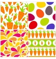 Easter Seamless Pattern Background Set vector image