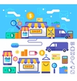 Online shopping collection concept in stylish vector image