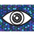 Big eye logotype vector image vector image