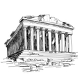 greece parthenon sketch vector image vector image