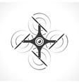 icon of drone vector image vector image