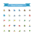 Real Estate Flat Icons vector image vector image