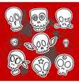 cute sketchy skulls vector image