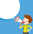 Boy With Megaphone Announcement vector image