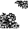 Black flower lace ornament vector image