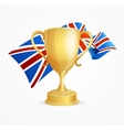 Greate Britain Winning Golden Cup Concept vector image
