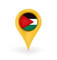 Location Palestine vector image
