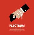 Plectrum In Hand vector image