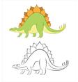 Stegosaur vector image