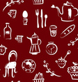 Tea time at the cafe seamless pattern - vector image