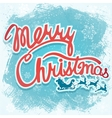 - Christmas sign with Santa vector image